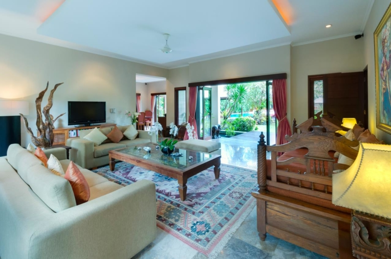 Living Area with TV - Villa Kalimaya One - Seminyak, Bali