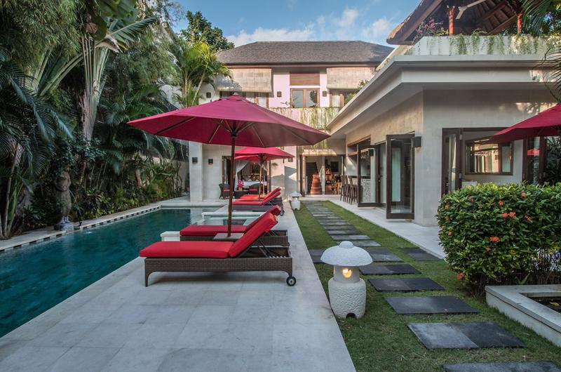 Pool Side Loungers - Villa Kalimaya Three - Seminyak, Bali