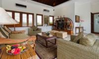 Living Area with TV - Villa Kalimaya Three - Seminyak, Bali