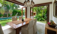 Dining Area with Pool View - Villa Kalimaya Three - Seminyak, Bali