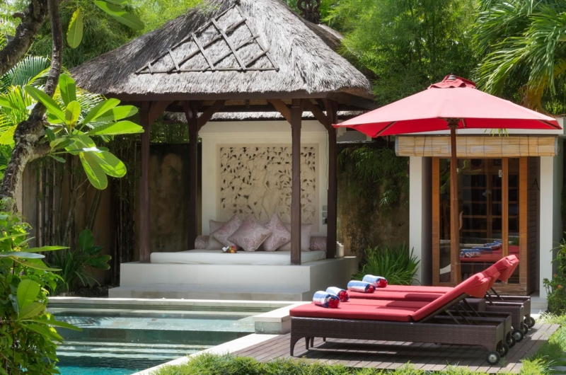 Pool Side Loungers - Villa Kalimaya Two - Seminyak, Bali