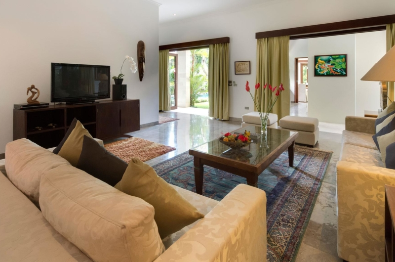 Living Area with TV - Villa Kalimaya Two - Seminyak, Bali
