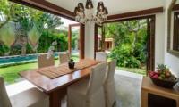 Dining Area with Pool View - Villa Kalimaya Two - Seminyak, Bali