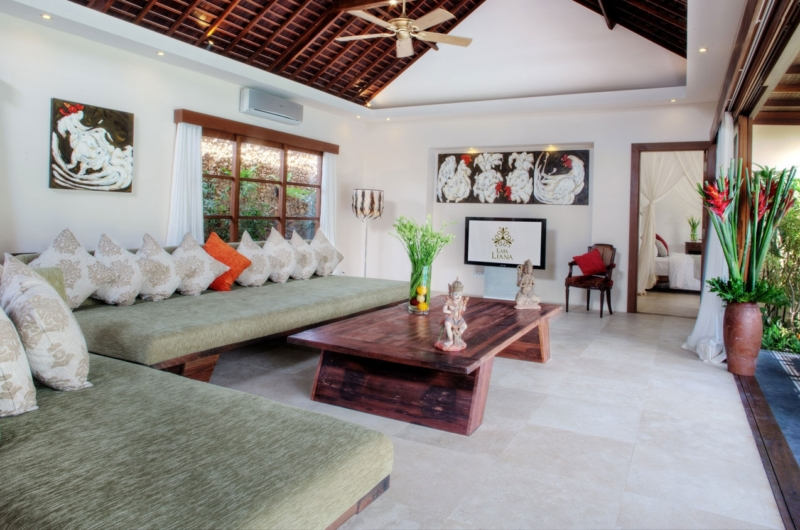 Living Area with View - Villa Kalimaya Two - Seminyak, Bali