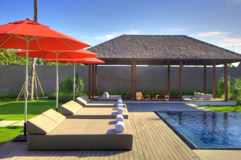 Pool Side Loungers - Villa Kalyani - Canggu, Bali