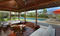 Living Area with Pool View - Villa Kalyani - Canggu, Bali