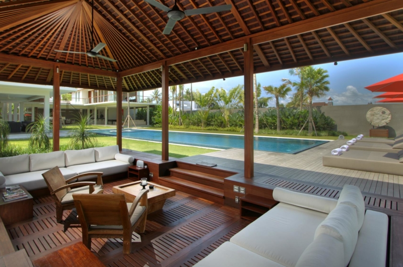 Living Area with Pool View - Villa Kalyani - Canggu, Bali