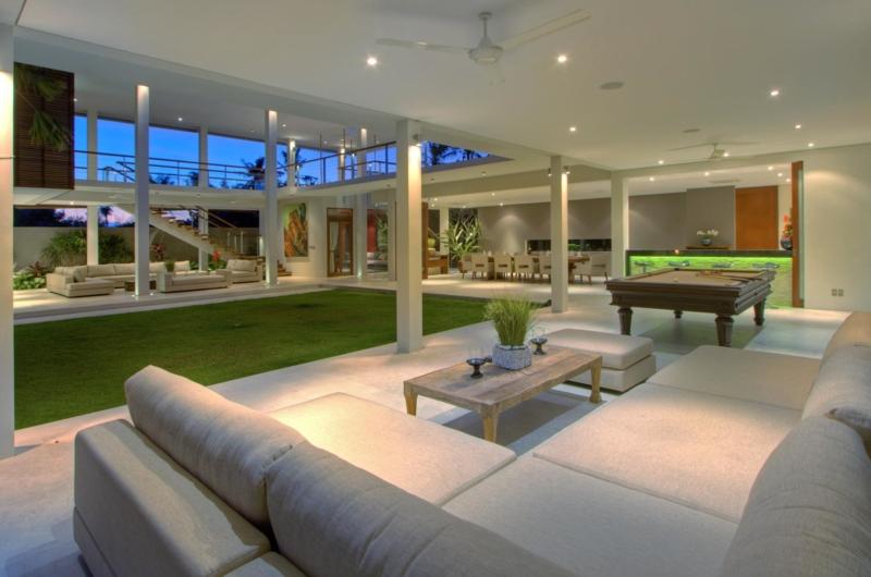 Living Area with Billiard Table - Villa Kalyani - Canggu, Bali