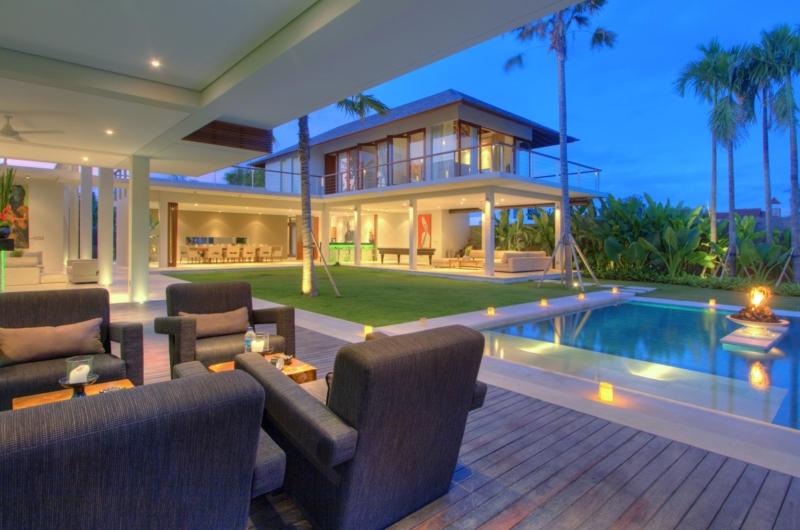 Pool Side Seating Area - Villa Kalyani - Canggu, Bali