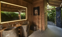 His and Hers Bathroom with Shower - Villa Kayu - Umalas, Bali