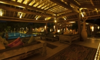 Living Area at Night - Villa Kayu - Umalas, Bali
