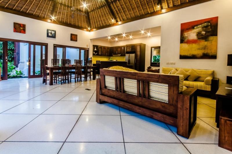 Living and Dining Area - Villa Kebun - Seminyak, Bali