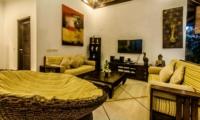 Lounge Area with TV - Villa Kebun - Seminyak, Bali