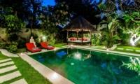Pool at Night - Villa Kebun - Seminyak, Bali