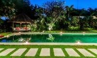 Pool Bale at Night - Villa Kebun - Seminyak, Bali