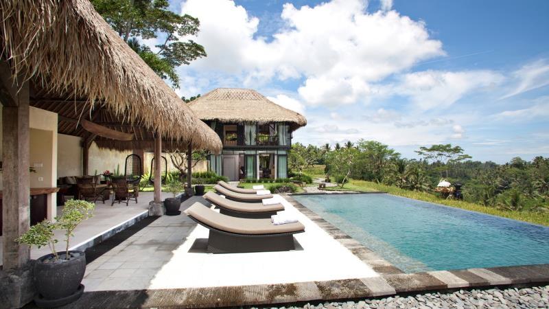 Pool Side Loungers - Villa Kelusa - Ubud, Bali