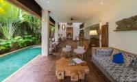 Living Area with Pool View - Villa Ketut - Seminyak, Bali