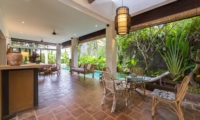 Indoor Living Area with Pool View - Villa Ketut - Seminyak, Bali