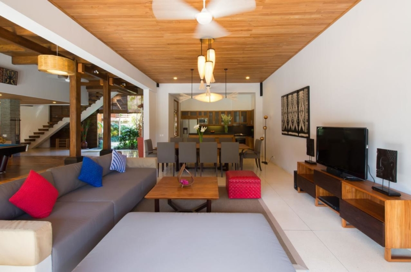 Lounge Area with TV - Villa Kinaree Estate - Seminyak, Bali
