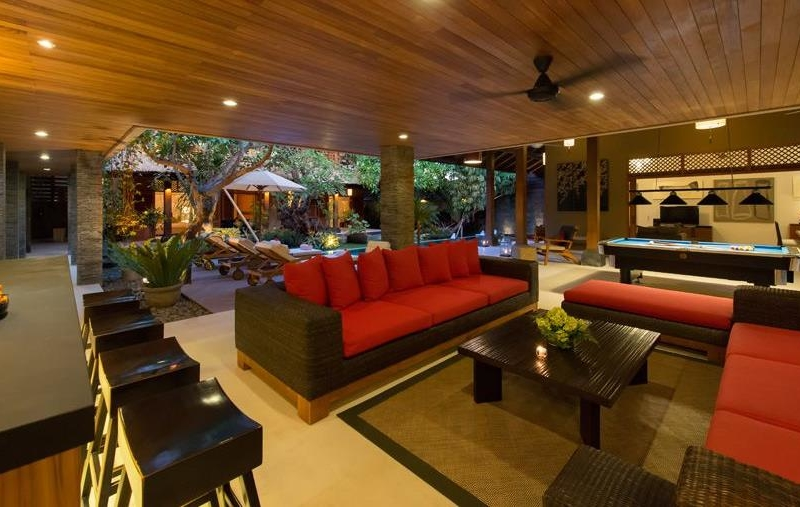 Living Area with Billiard Table - Villa Kinaree Estate - Seminyak, Bali