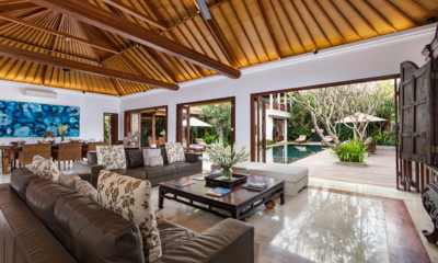Living Area with Pool View - Villa Kipi - Batubelig, Bali