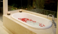 Romantic Bathtub Set Up at Night - Villa Kipi - Batubelig, Bali