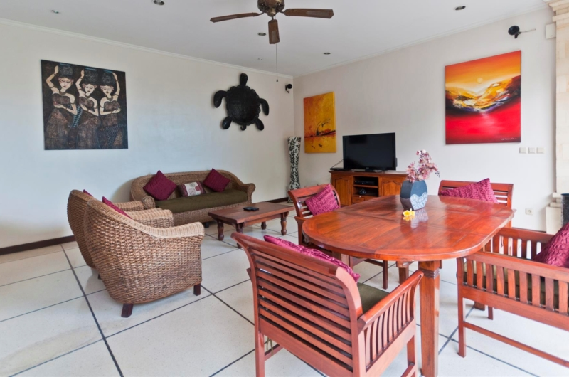 Living and Dining Area with TV - Villa Krisna - Seminyak, Bali