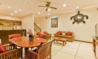 Living, Kitchen and Dining Area with TV - Villa Krisna - Seminyak, Bali