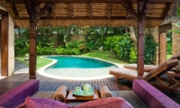 Pool Side Seating Area - Villa Kubu 11 - Seminyak, Bali