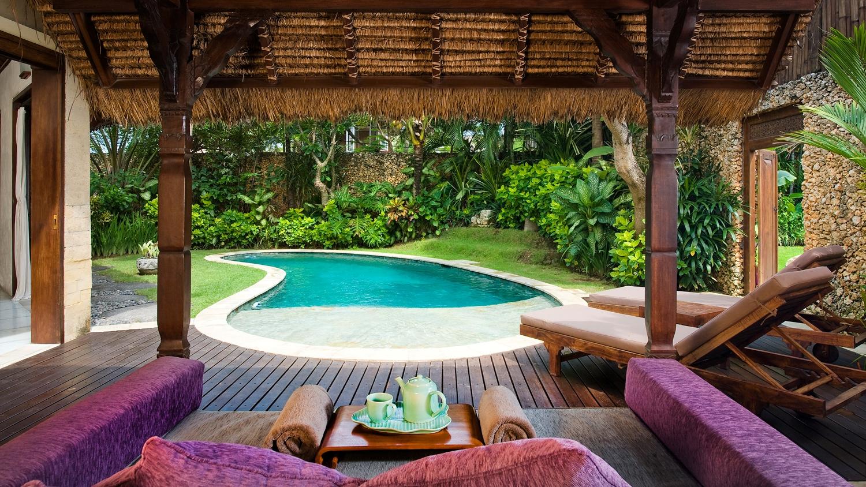 Pool Side Loungers - Villa Kubu 11 - Seminyak, Bali