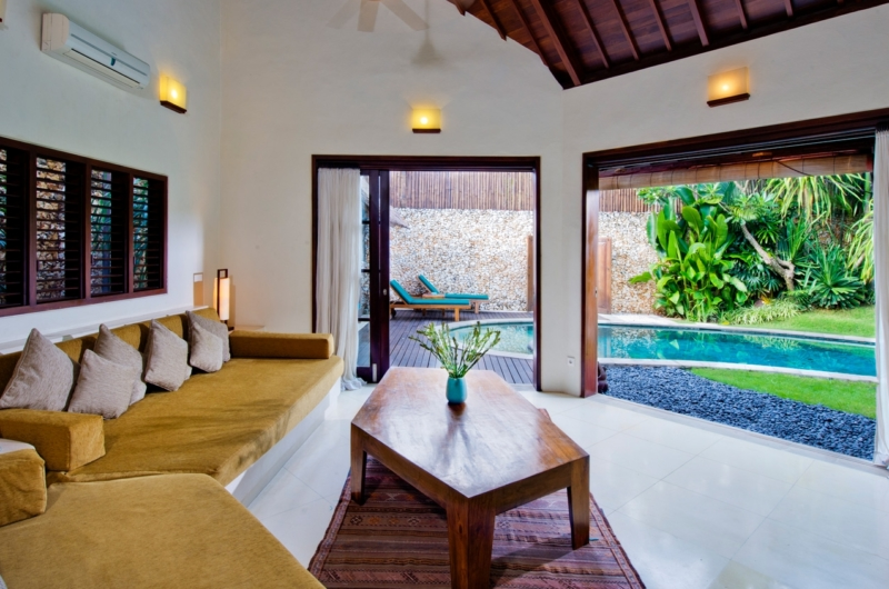 Lounge Area with Pool View - Villa Kubu 12 - Seminyak, Bali