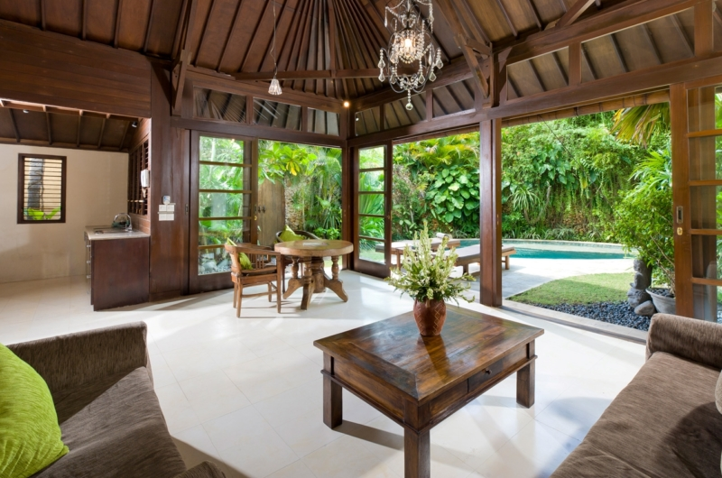 Living Area with Pool View - Villa Kubu 14 - Seminyak, Bali