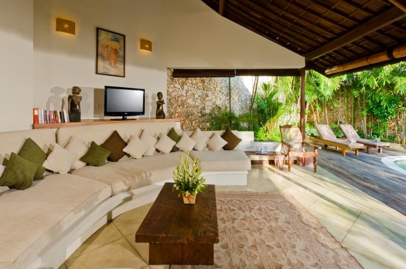 Living Area with Pool View - Villa Kubu 4 - Seminyak, Bali