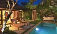 Pool at Night - Villa Kubu 5 - Seminyak, Bali