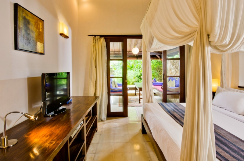 Bedroom with TV and View - Villa Kubu 8 - Seminyak, Bali
