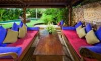 Outdoor Lounge with Pool View - Villa Kubu 8 - Seminyak, Bali