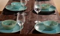 Dining with Crockery - Villa Kubu 8 - Seminyak, Bali