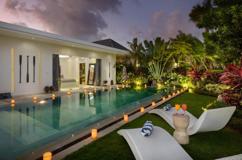 Pool at Night - Villa Kyah - Seminyak, Bali