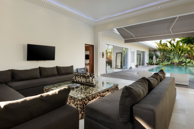 Living Area with Pool View - Villa Kyah - Seminyak, Bali