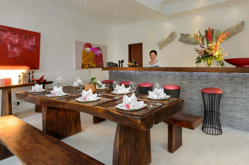 Indoor Kitchen and Dining Area - Villa Kyah - Seminyak, Bali