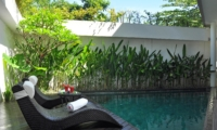 Pool Side Loungers - Villa La Sirena - Seminyak, Bali