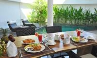 Dining Area with Pool View - Villa La Sirena - Seminyak, Bali