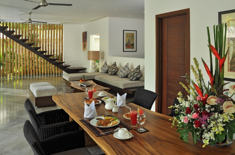 Living and Dining Area with Up Stairs - Villa La Sirena - Seminyak, Bali