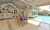 Dining Area with Pool View - Villa Laksmana 2 - Seminyak, Bali