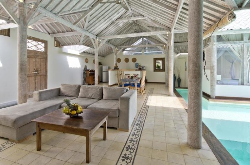 Living and Dining Area with Pool View - Villa Laksmana 2 - Seminyak, Bali