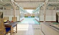 Pool Side Living and Dining Area - Villa Laksmana 2 - Seminyak, Bali