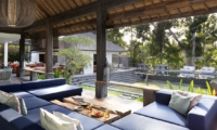 Living Area with Pool View - Villa Levi - Canggu, Bali