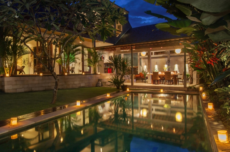 Pool at Night - Villa Liang - Batubelig, Bali