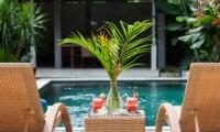 Pool Side Loungers - Villa Liang - Batubelig, Bali