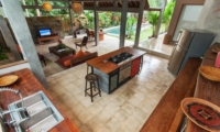 Kitchen Area Top View - Villa Liang - Batubelig, Bali